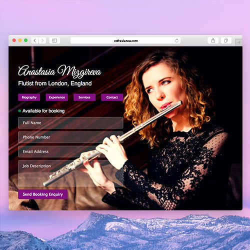 Professional Website of Anastasia Mizgireva Flutist